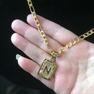 """Other - New 18k gold letter """" N """" necklace"""